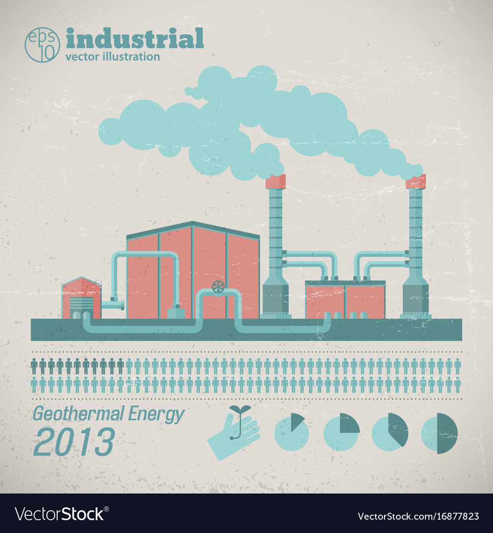 Industrial manufacturing factory template Vector Image