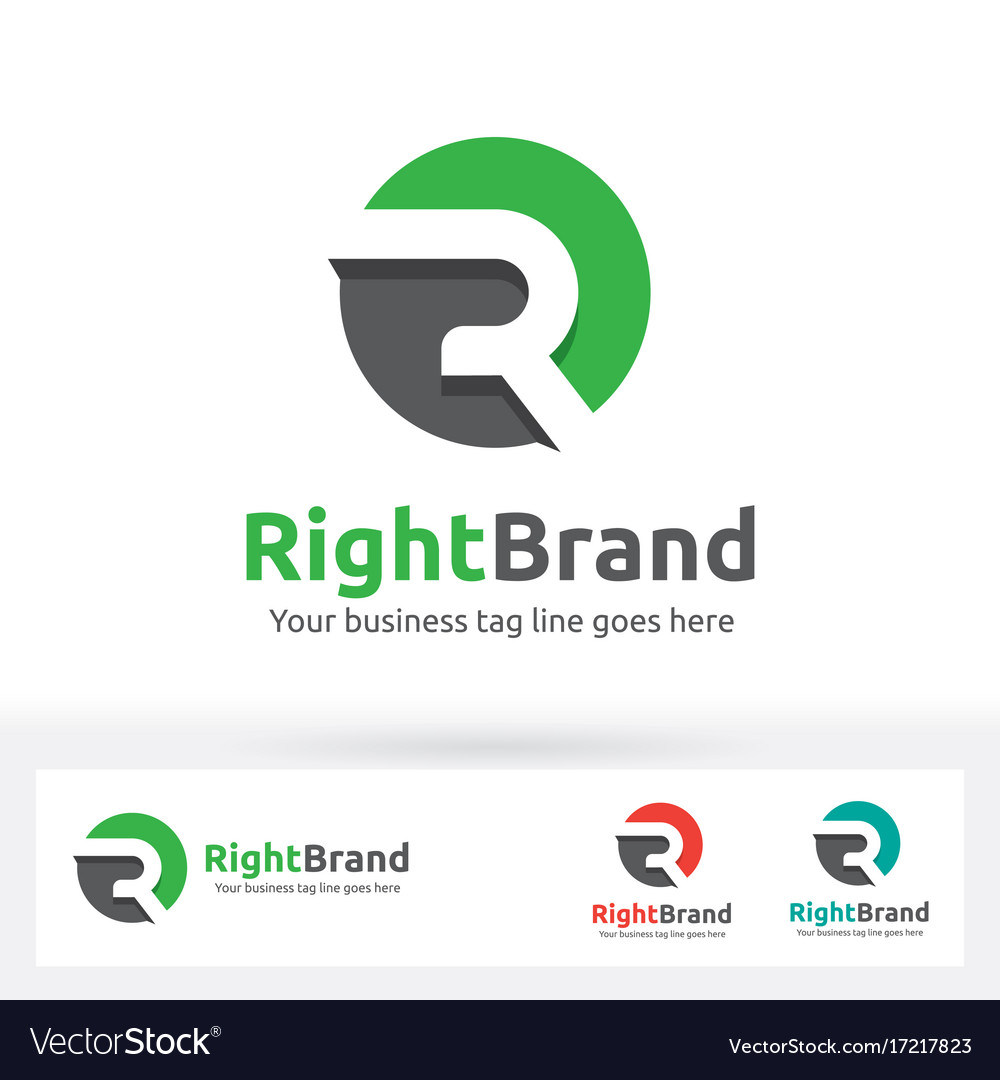 Letter r logo letter r in the circle shape with vector image