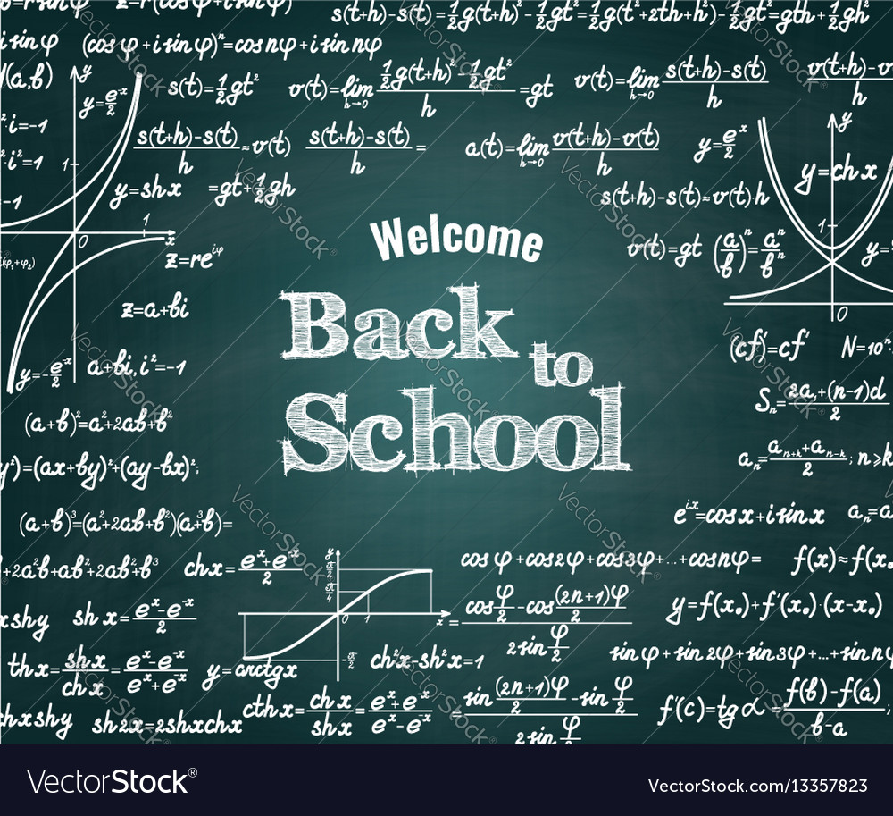 Mathematical back to school background