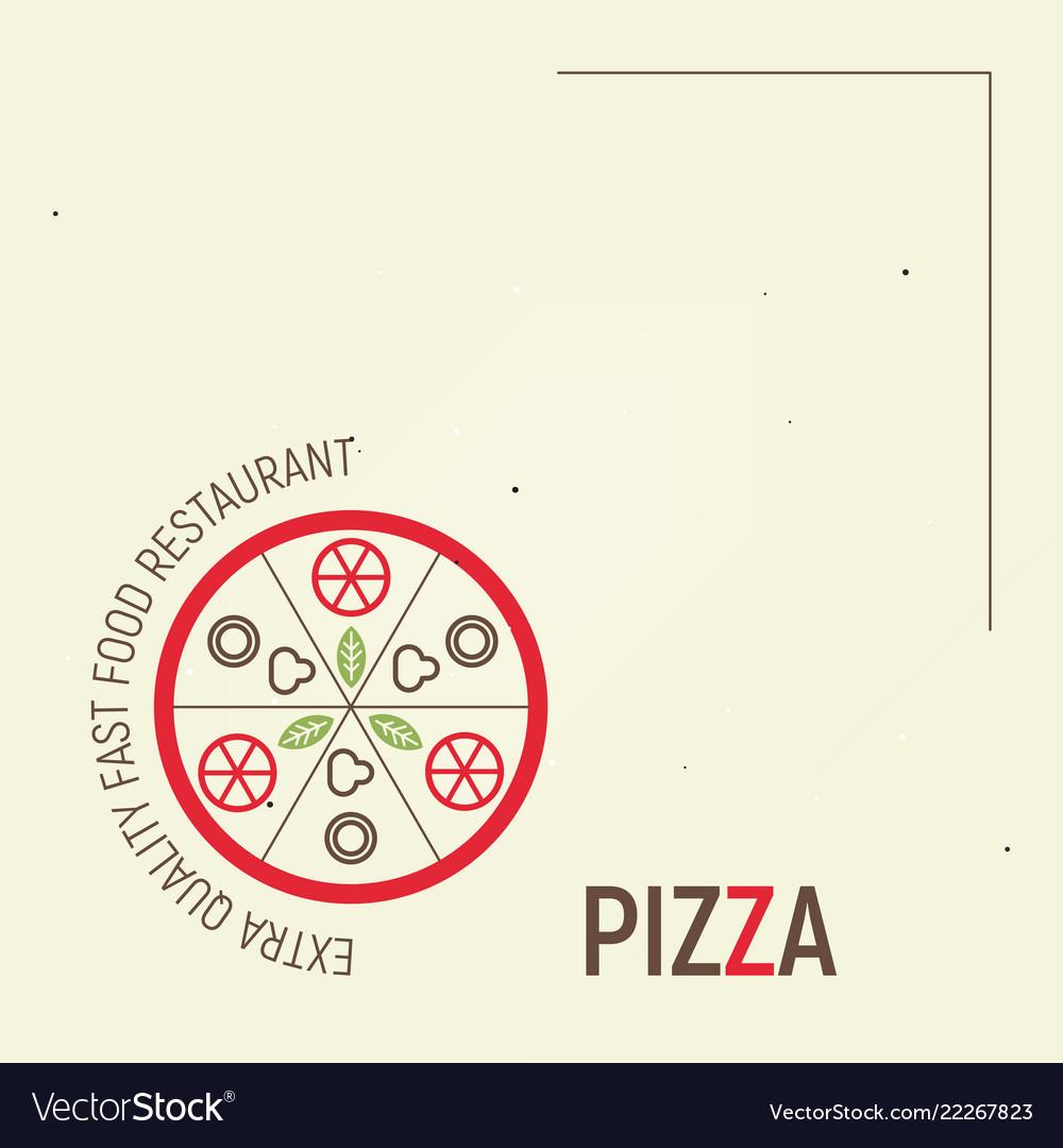 Pizza Template Menu Royalty Free Vector Image Vectorstock