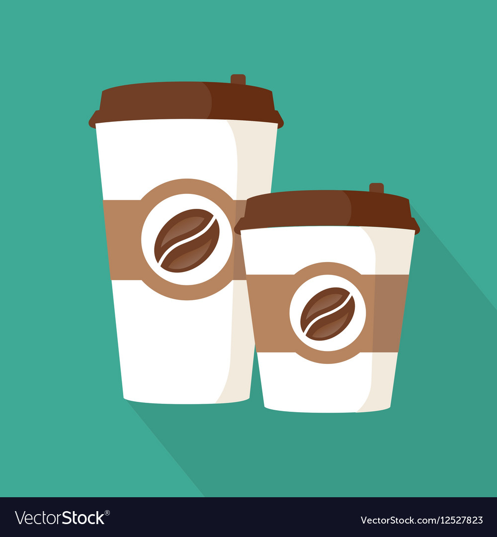 Two Coffee To Go Paper Cups Icon