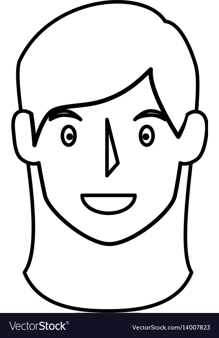 Young woman head avatar