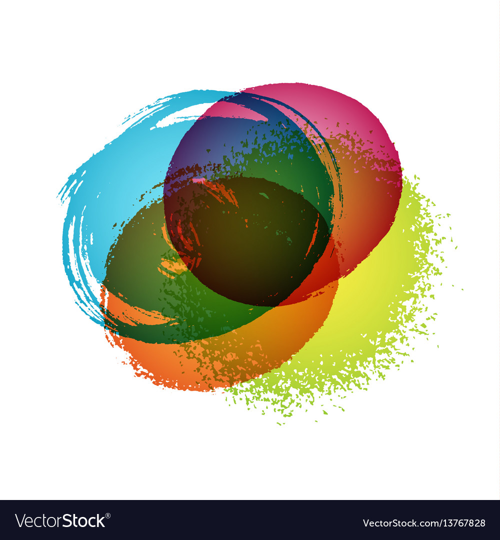 Abstract colorful hand drawn stains background vector image