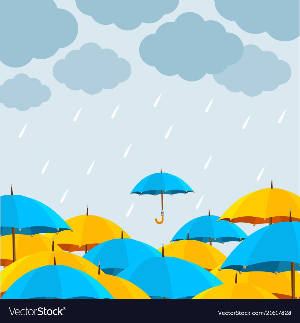 Autumn season concept card poster background