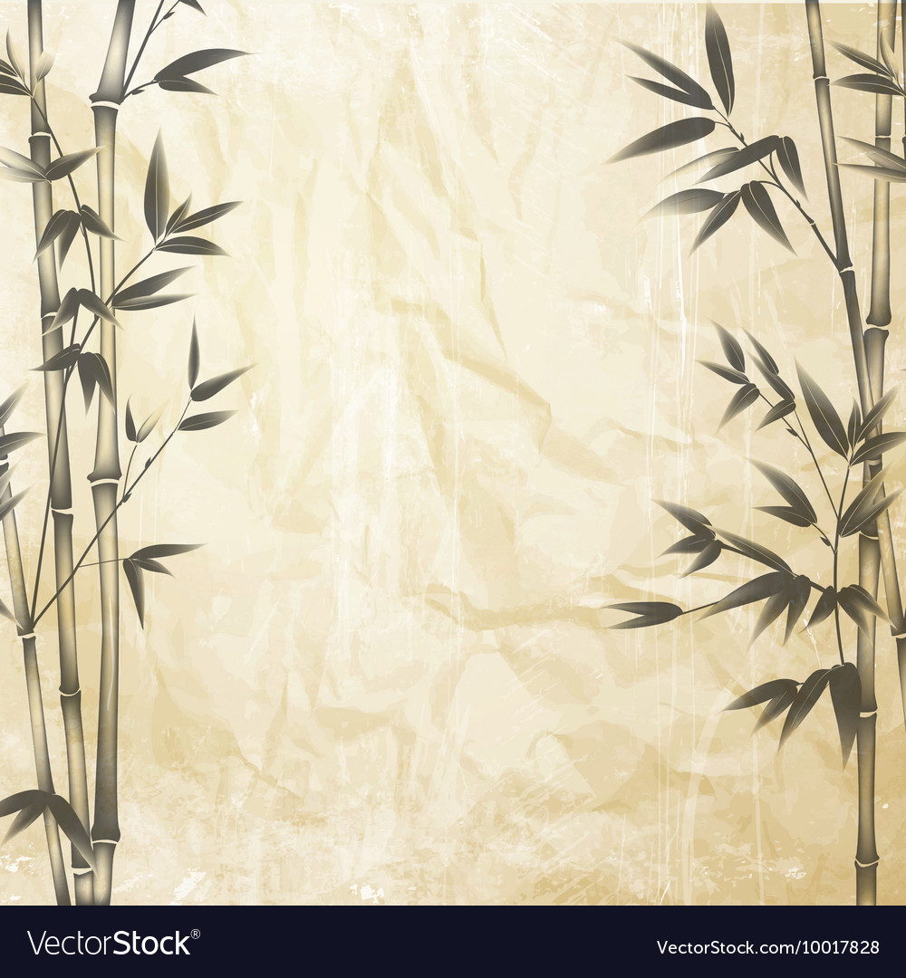 Chinese Bamboo Design Royalty Free Vector Image