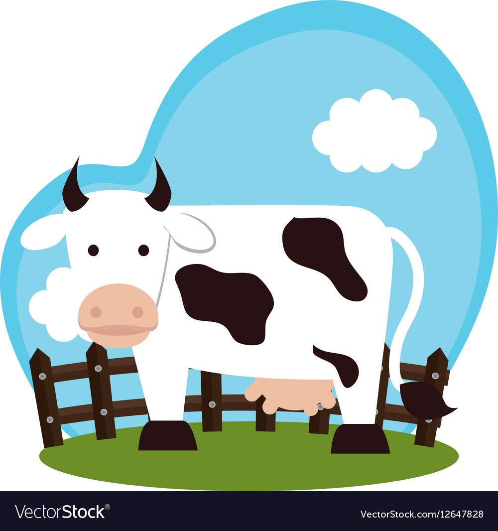 cow animal farm icon royalty free vector image
