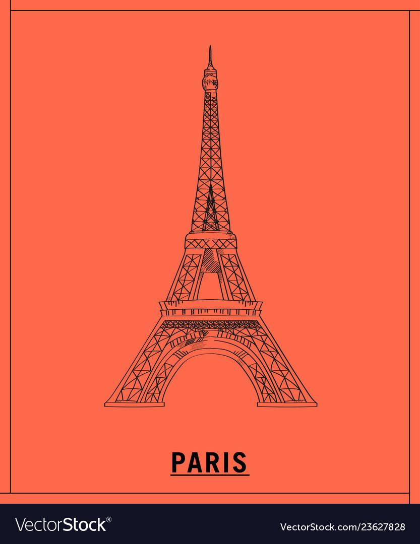 Eiffel towerhand drawn sketch