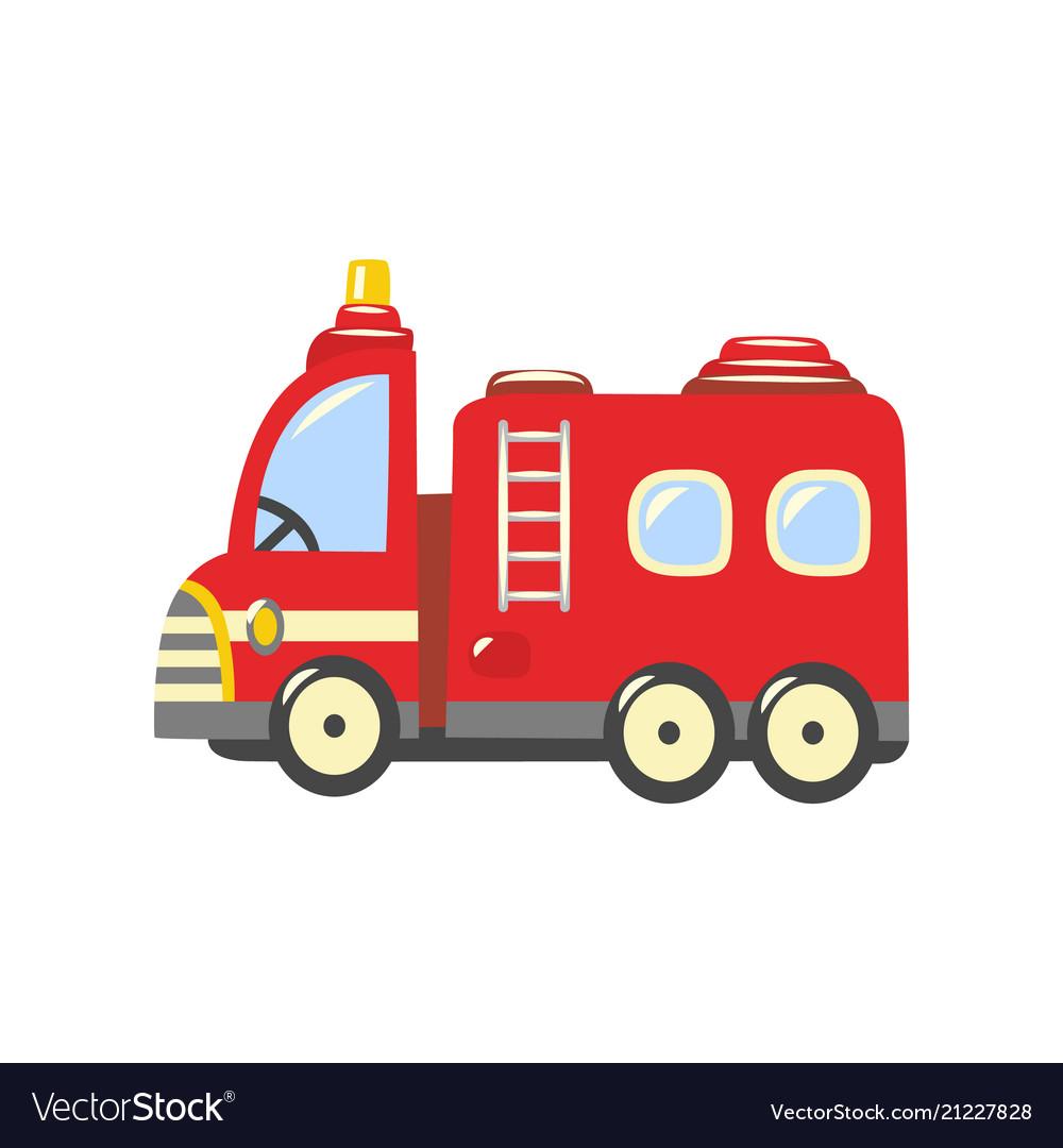 Flat firetruck fire vehicle icon