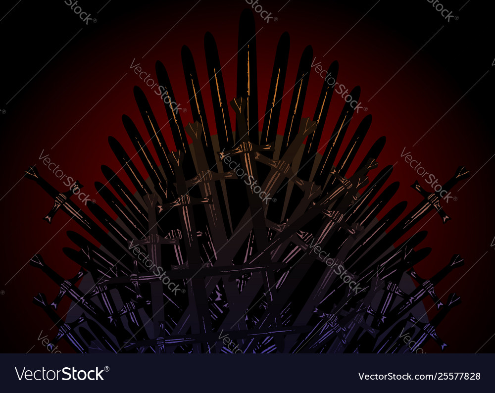 Hand drawn iron throne middle ages