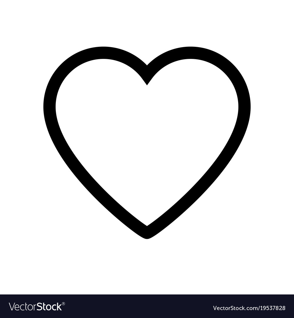heart icon on white background royalty free vector image