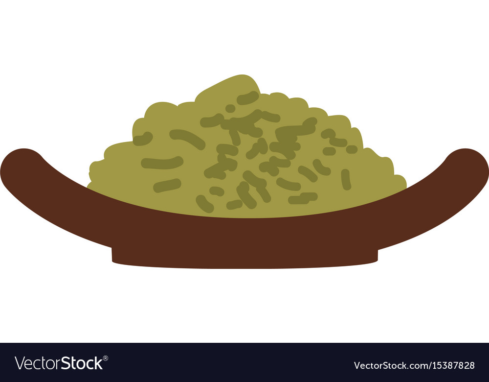 Japanese rice food vector image