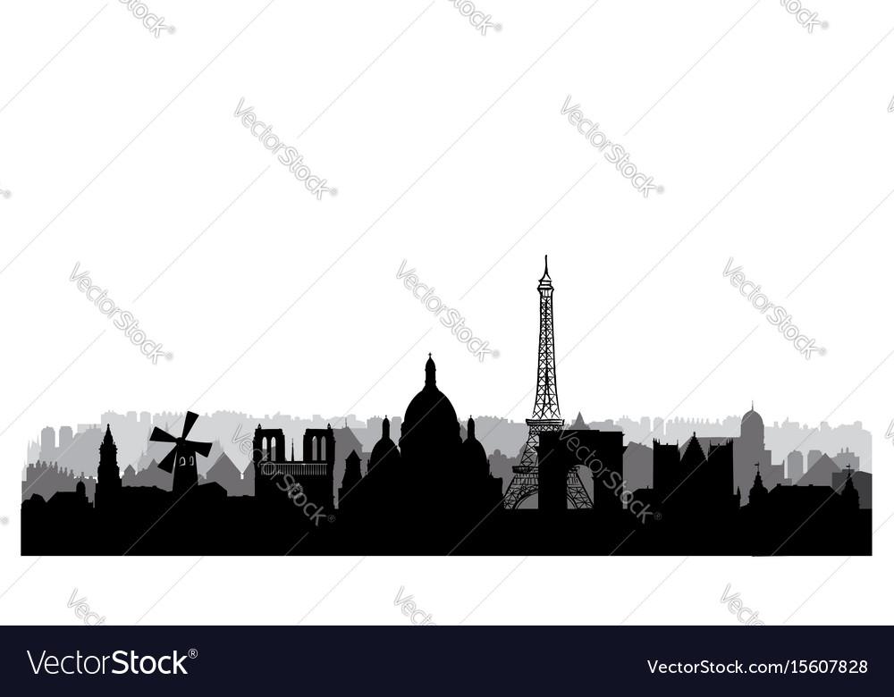 Paris city skyline famous place cityscape