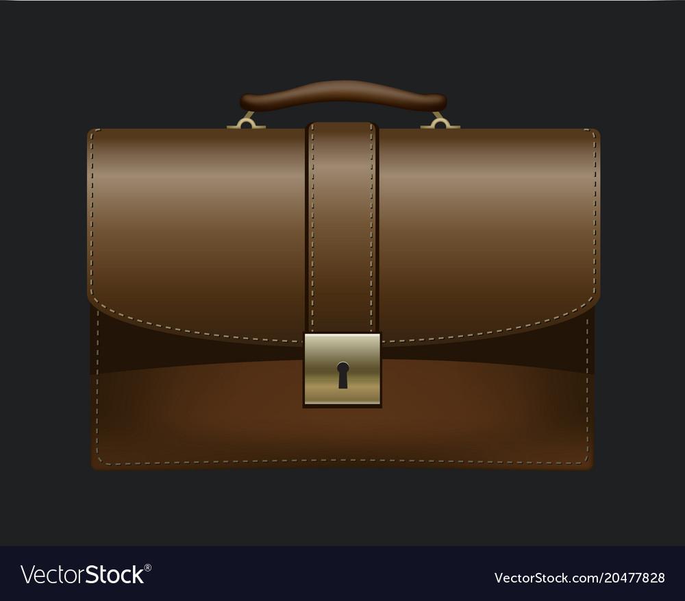 Realistic briefcase icon