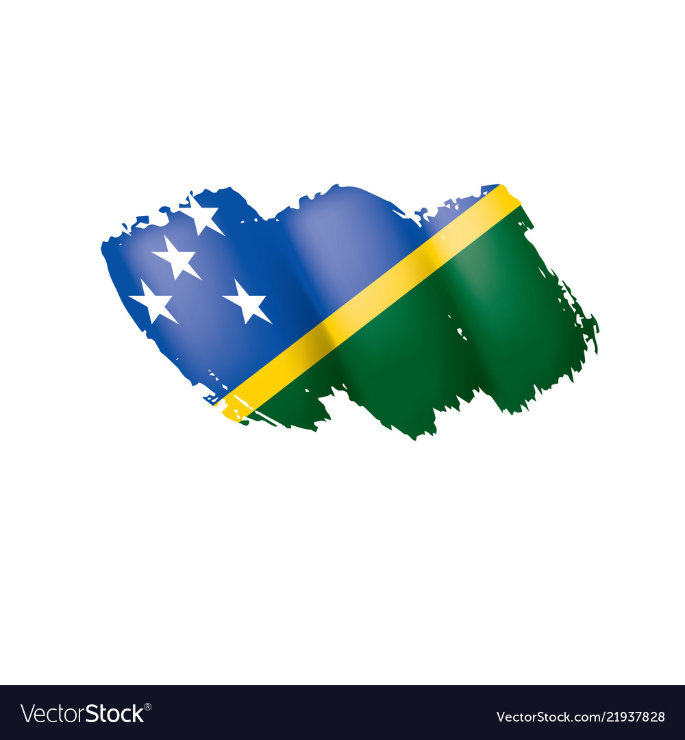 Graphics /& More O-s-Solomon Islands National Country Flag White