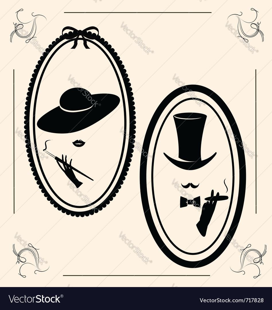 Vintage womans hat vector image
