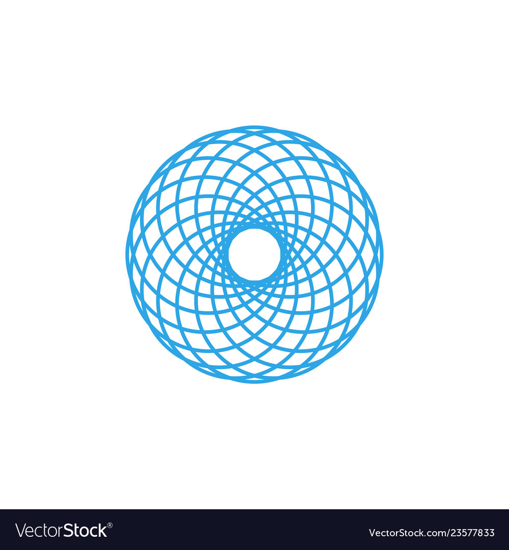 Abstract mandala icon graphic design template