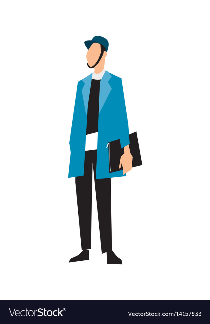 Elegant fashion man in suit and jacket vector image