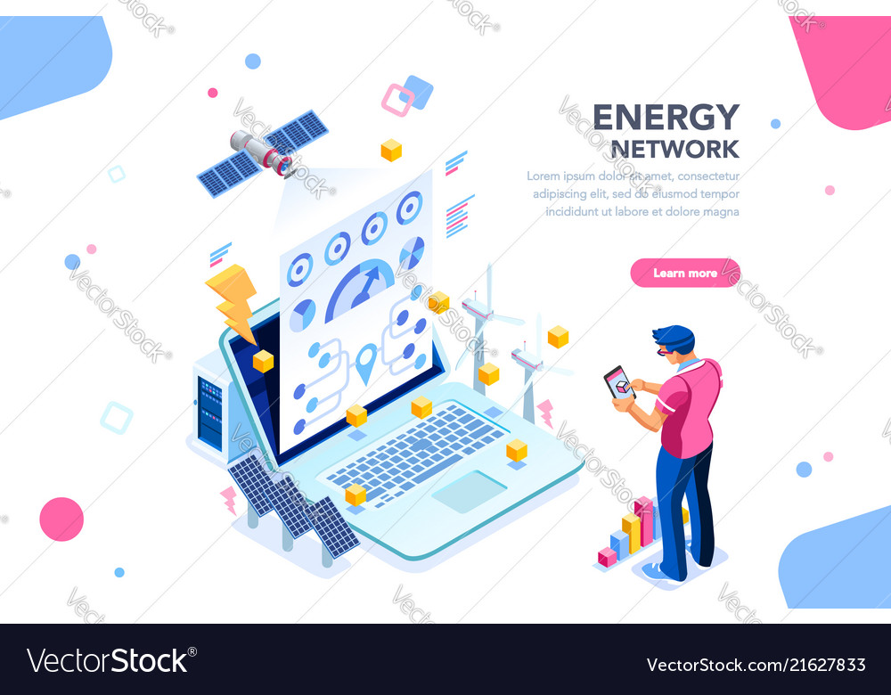 Energy network web page banner