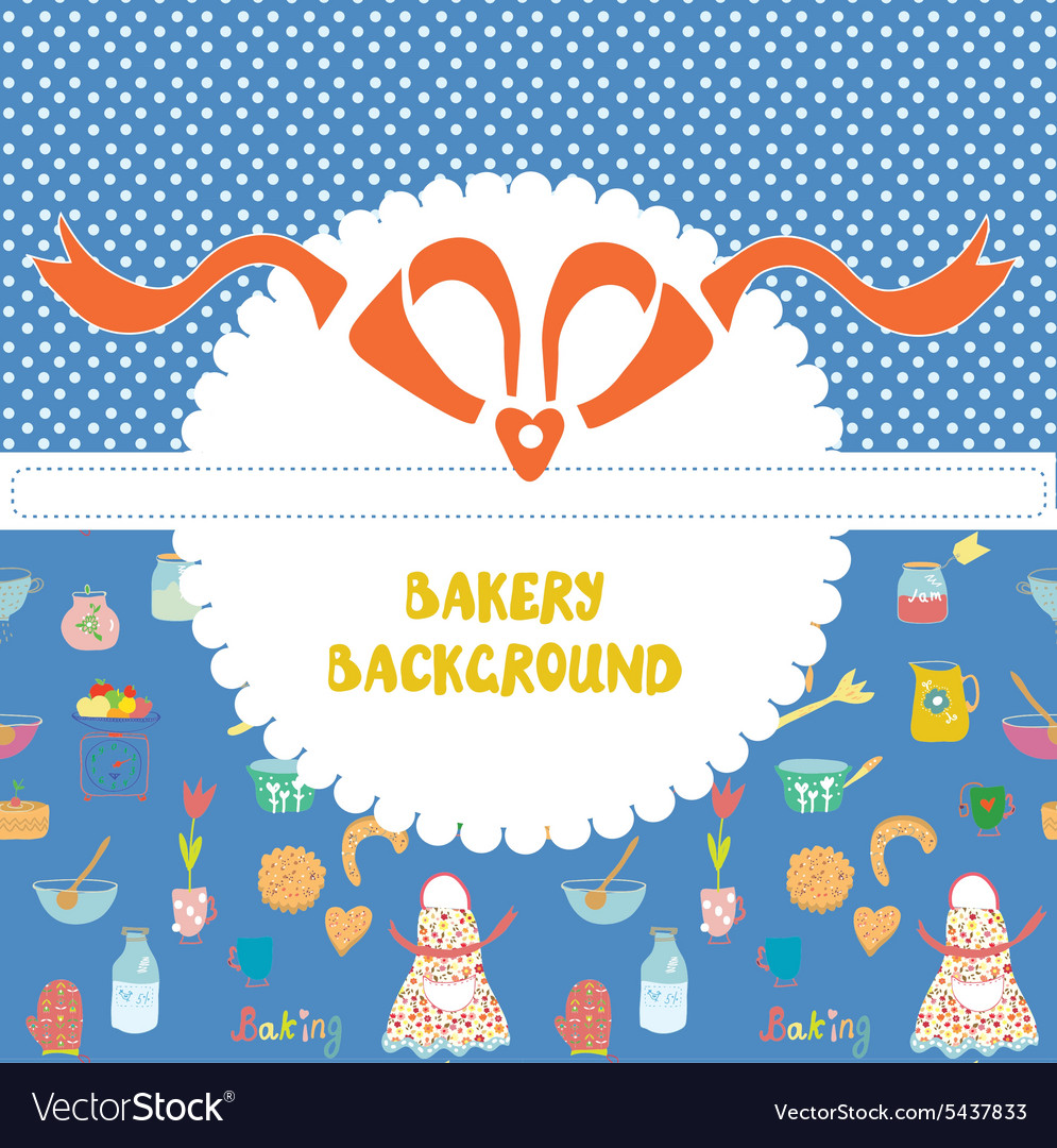 Funny background for the bakery with pattern
