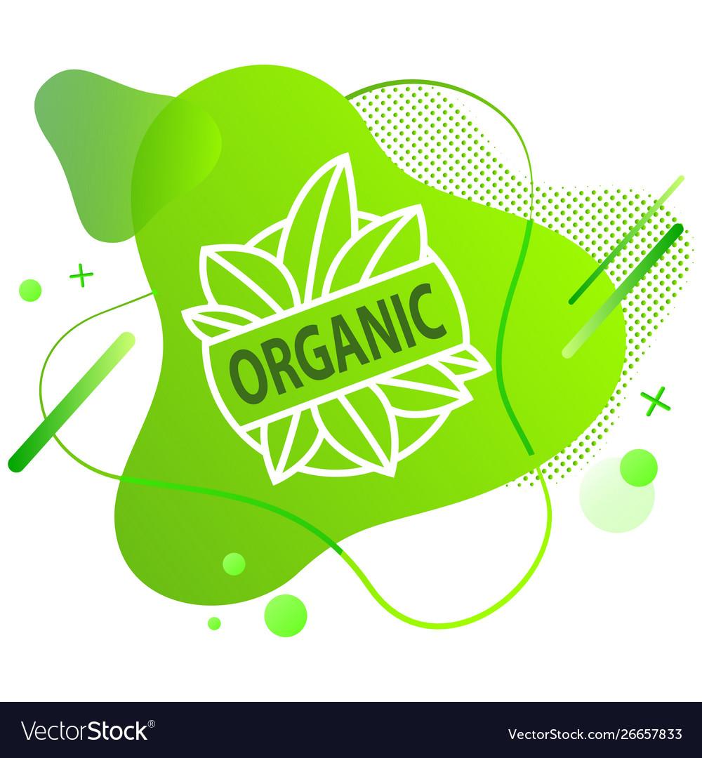Natural product vegan food sticker set