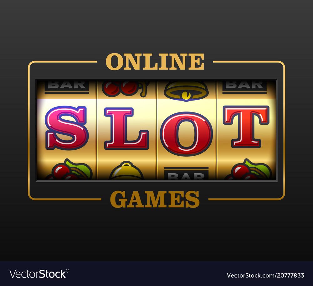 Online slot games slot machine games banner Vector Image