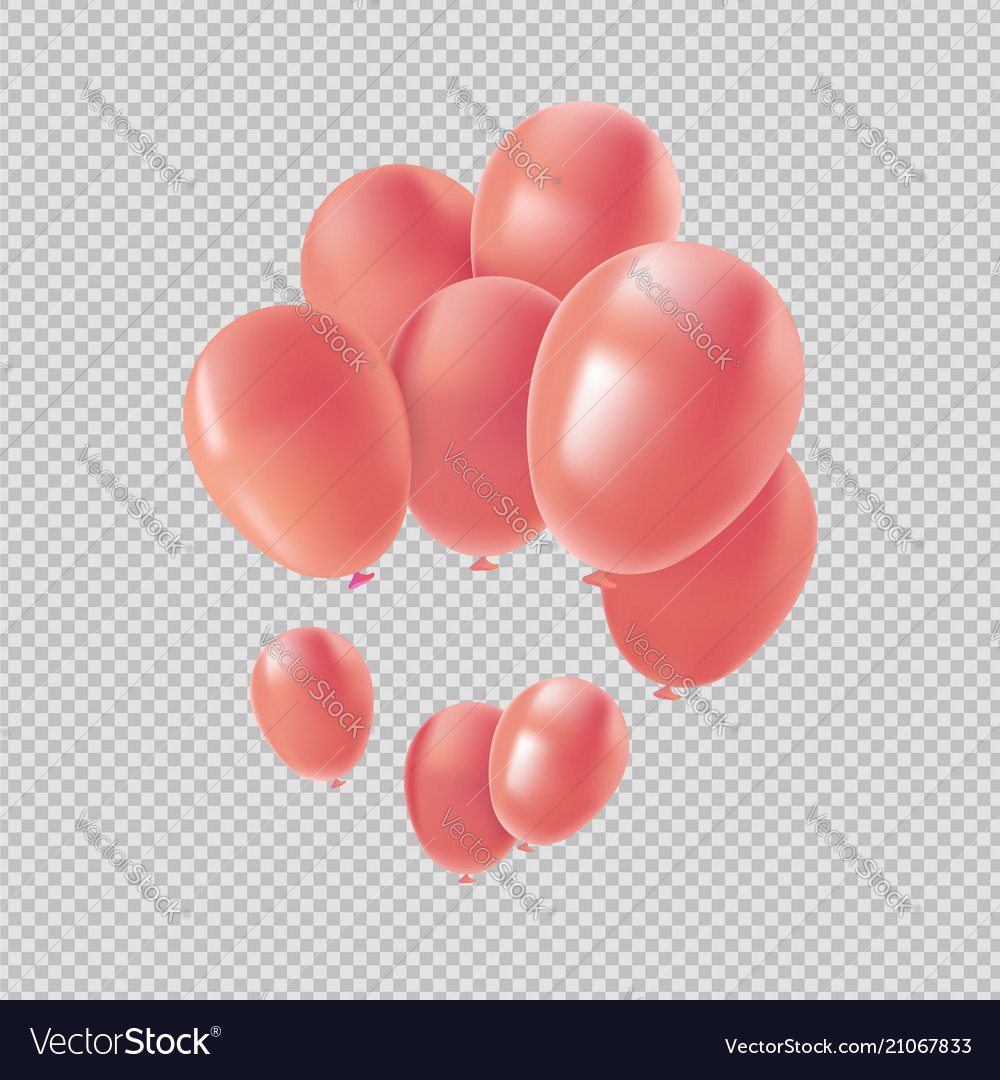 Pink helium balloon set for valentines decoration