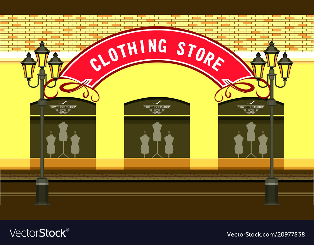 Clothing store building
