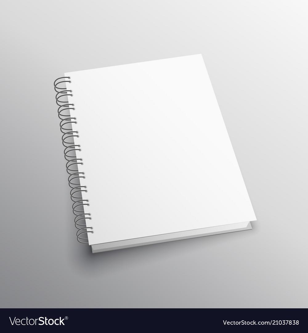 double loop binding book mockup template vector image