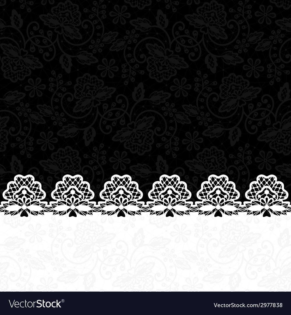 Greeting card with lace border