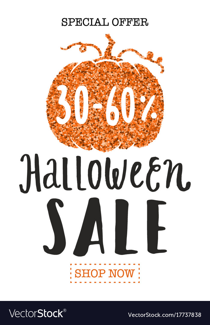 halloween sale promotion flyer template royalty free vector