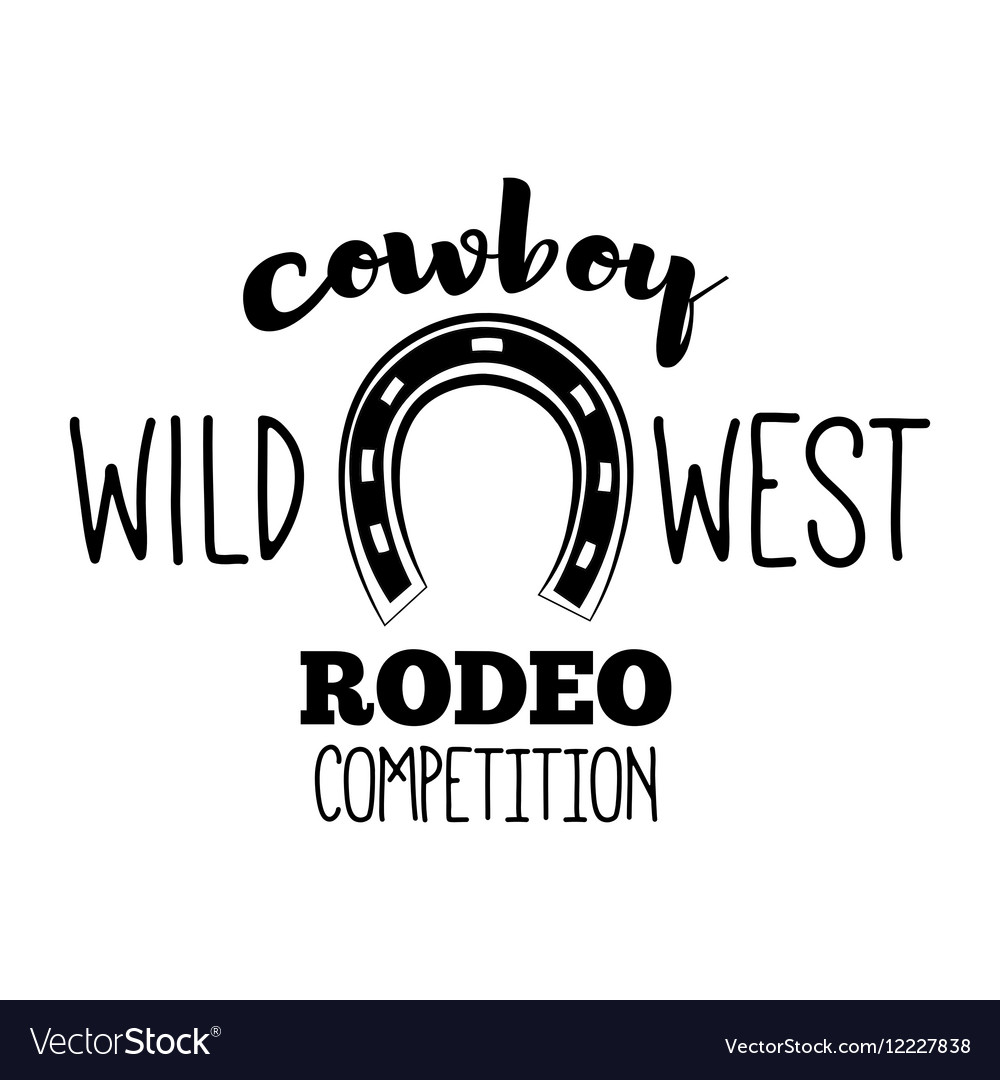Horseshoe Wild West Label Rodeo Competition Badge