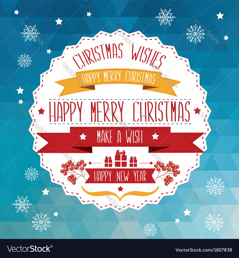 Poster Merry ChristmasTypography vector image