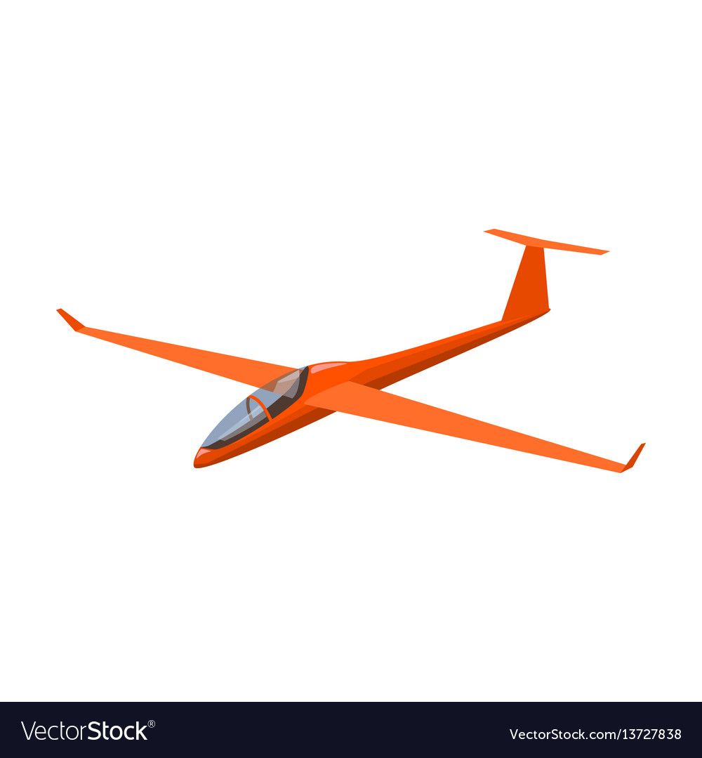 The orange fighter high speed airplane for one
