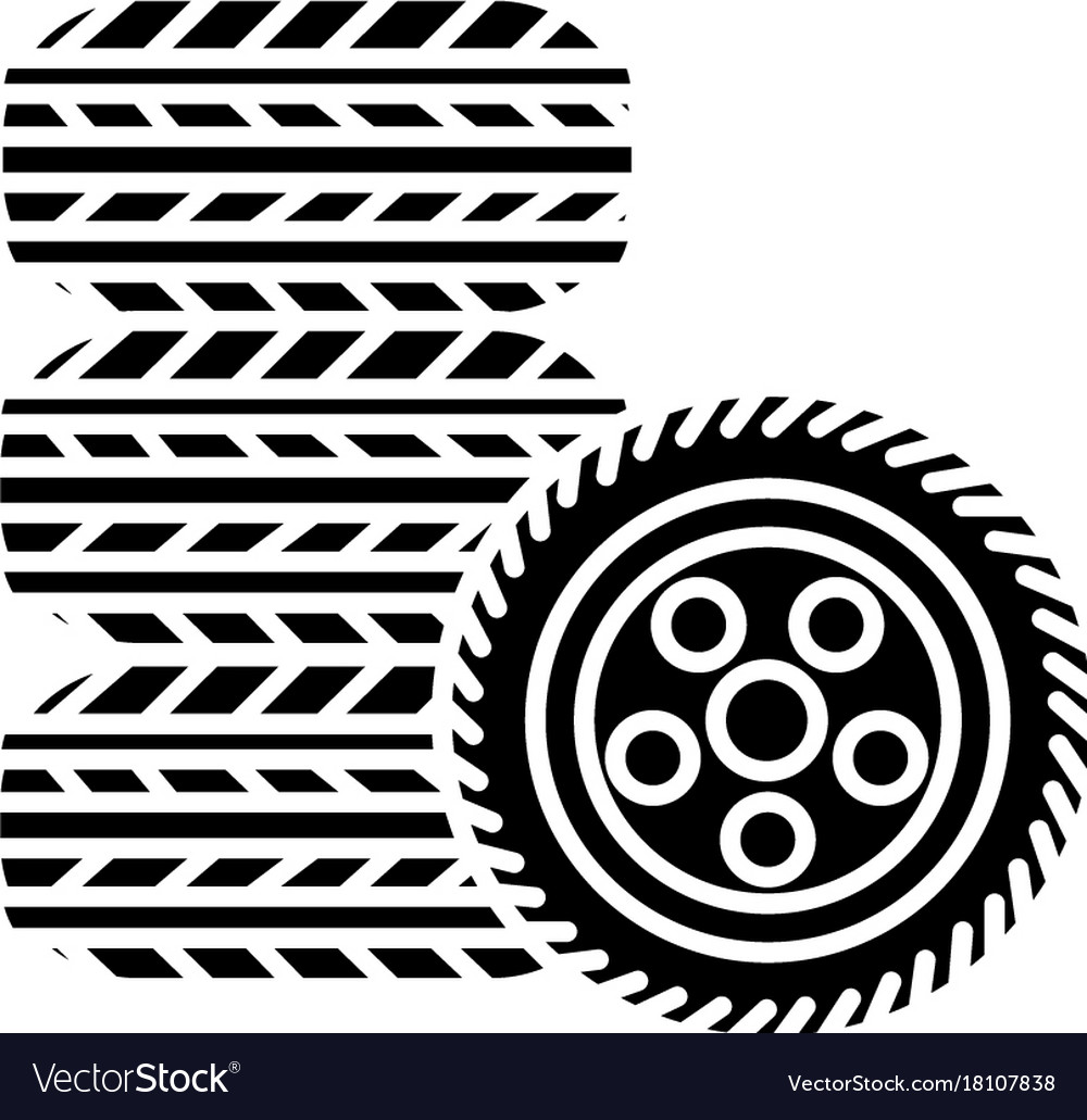 tires tire service icon royalty free vector image