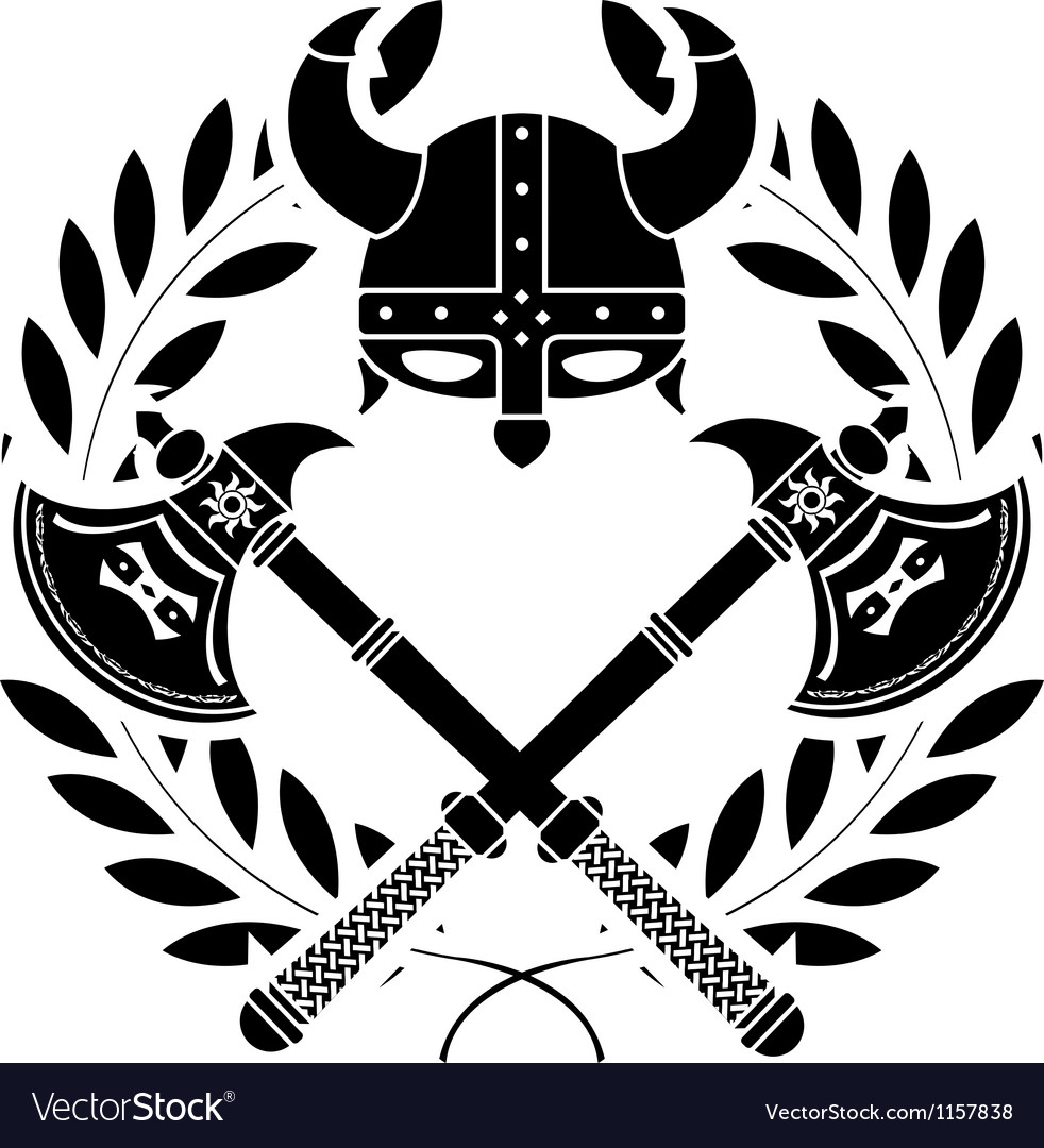 Viking glory stencil first variant vector image