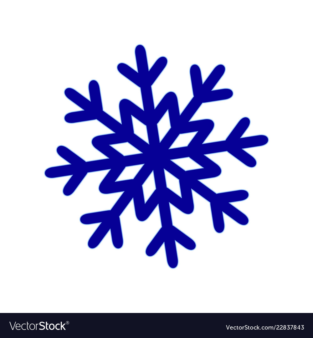 A snowflake of winter snow icon christmas