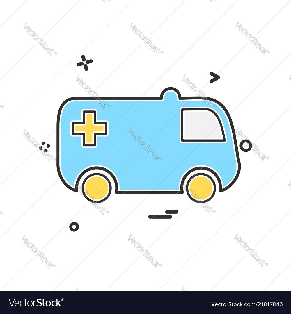 Ambulance icon design