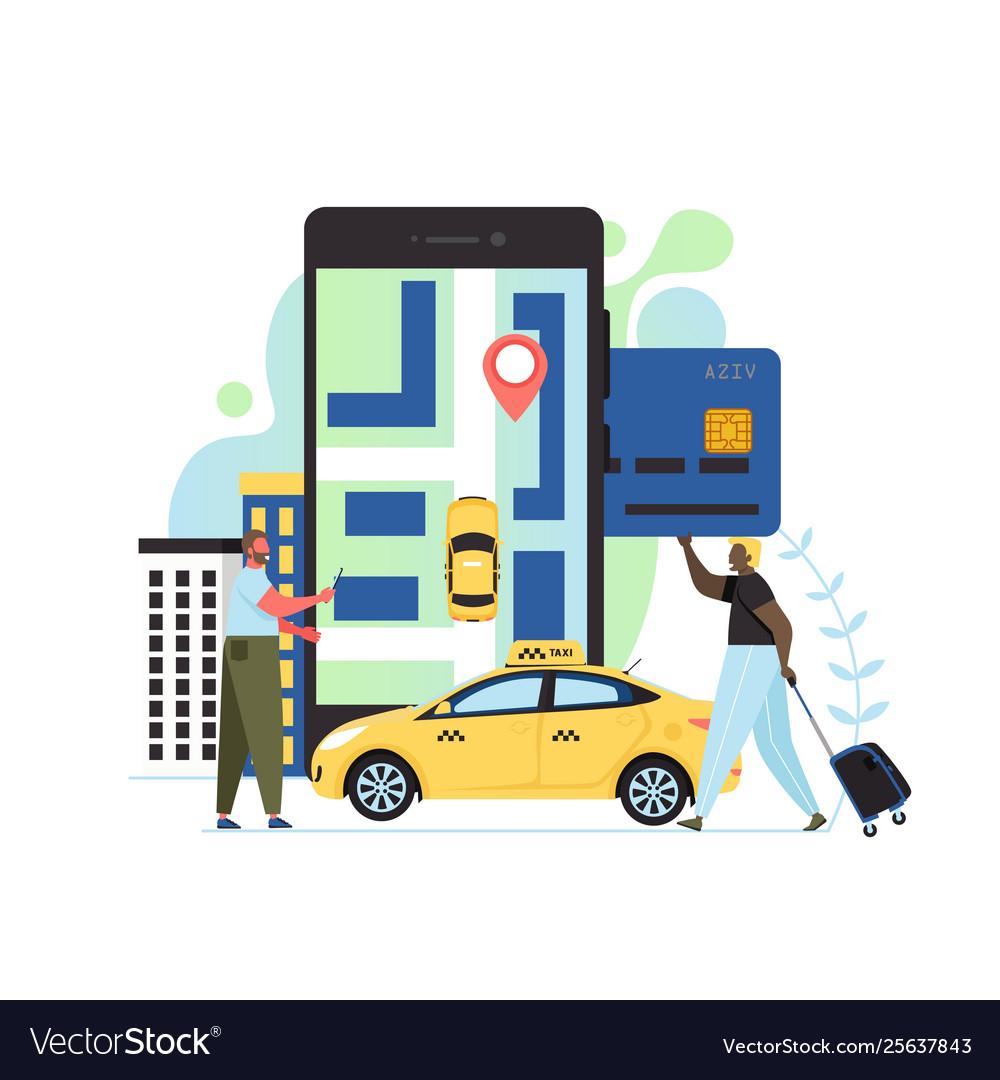 App taxi flat style design