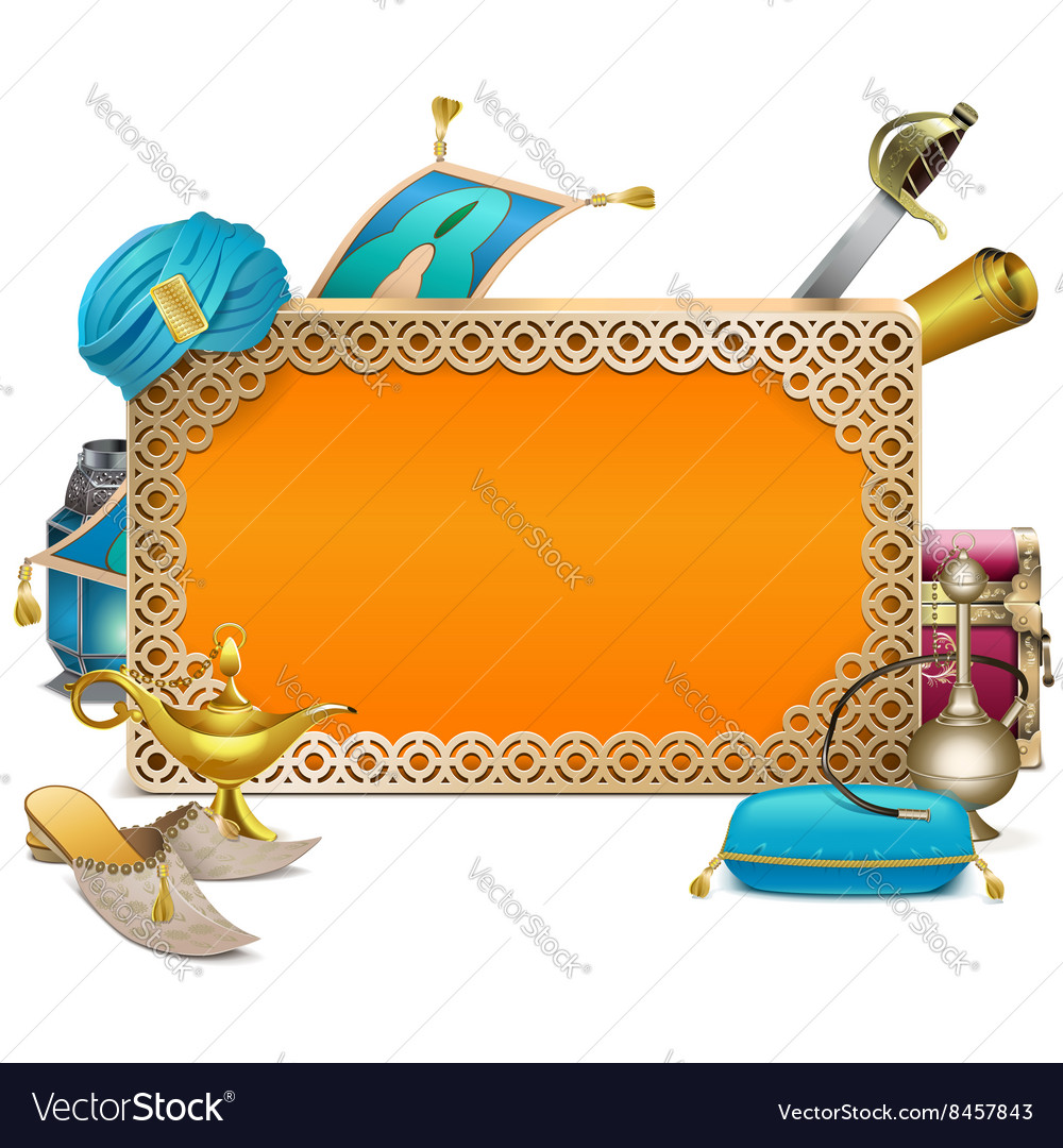 Arabic Frame vector image