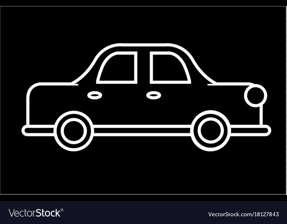 Car auto retro icon sign o vector image