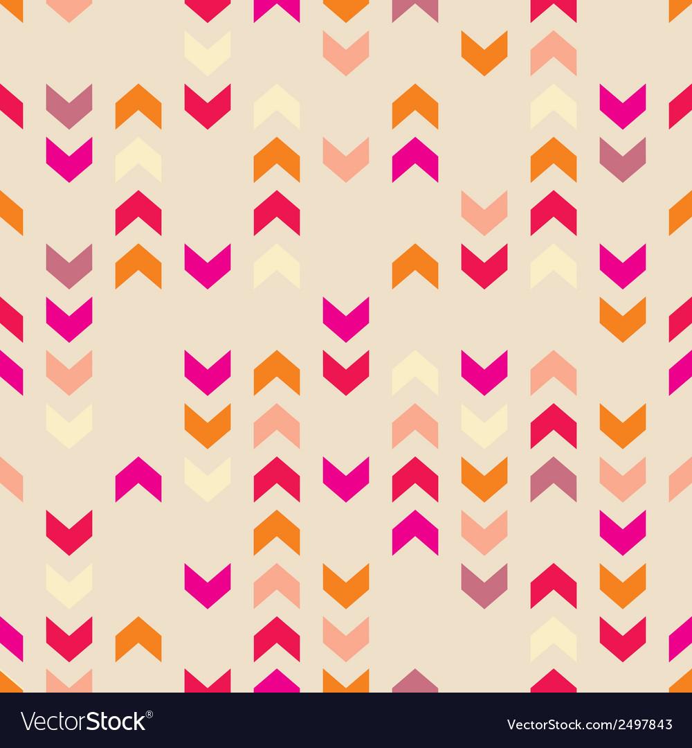Chevron tile colorful decoration background vector image