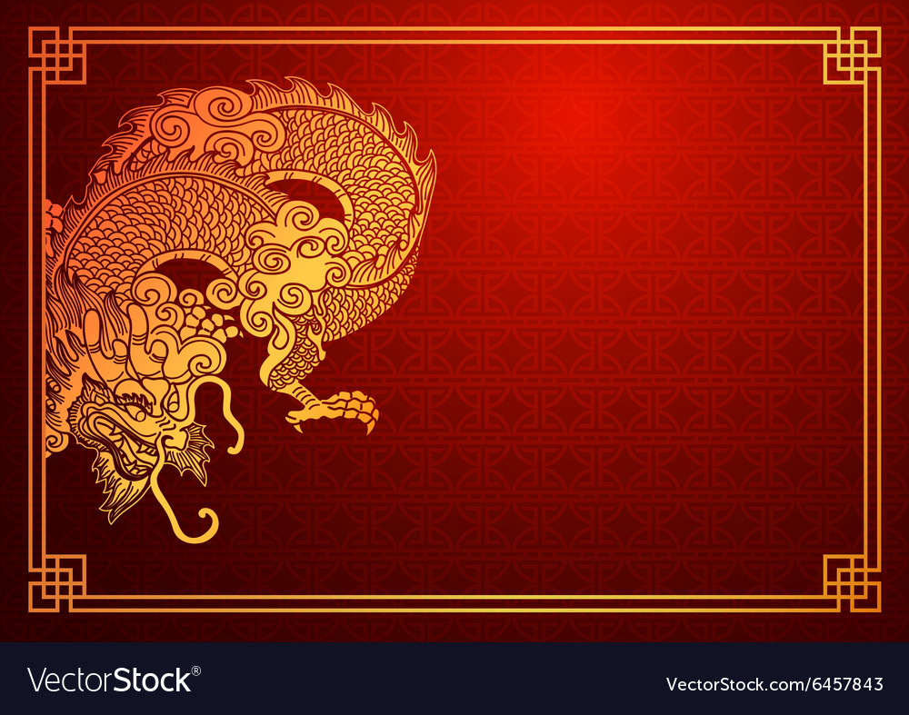 chinese dragon template 2 royalty free vector image