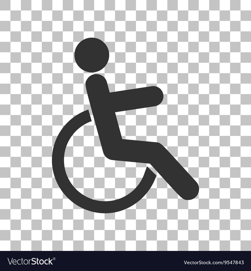 Disabled sign Dark gray icon on