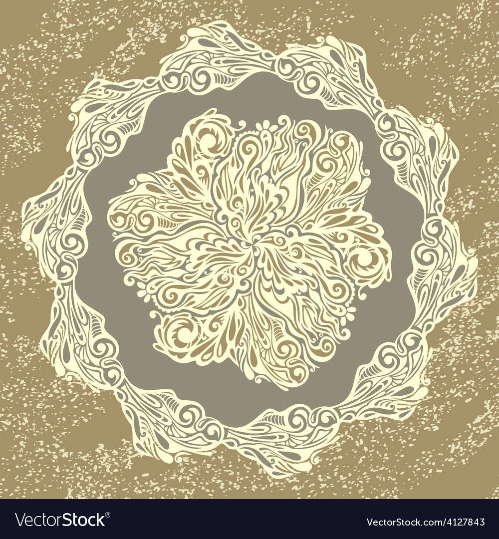 Floral design element vintage style vector image