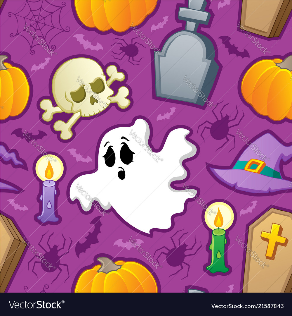 Halloween seamless background 3