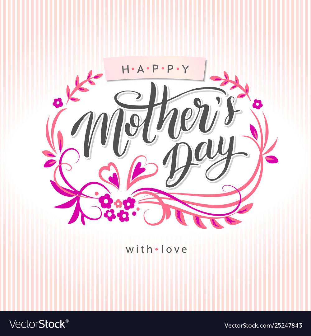 Happy mothers day greeting card on floral backgro