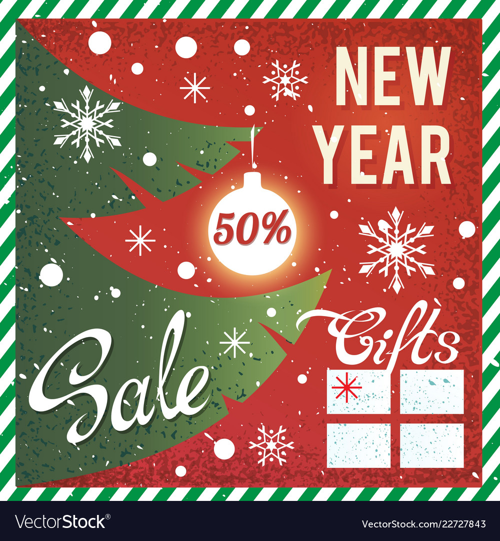 New year and christmas sale promotional banner