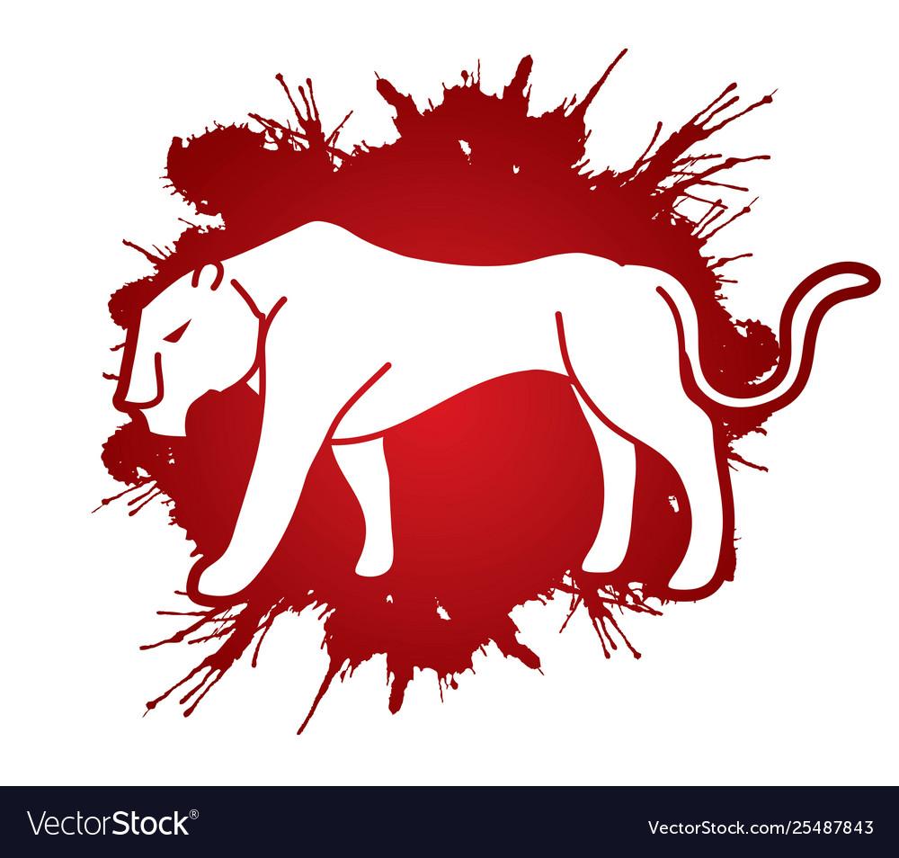 Panther tiger cartoon graphic
