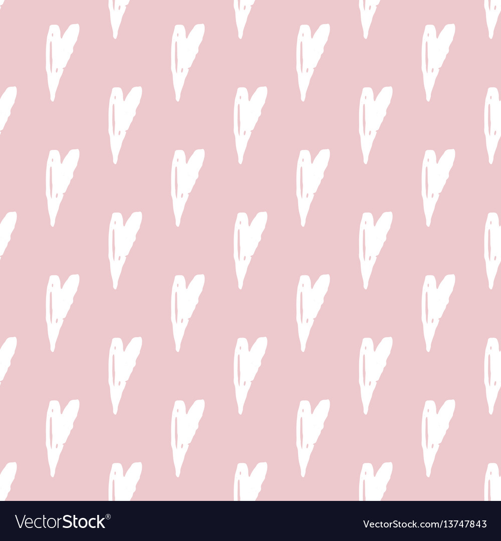 Print seamless pattern with hearts seamless vector image