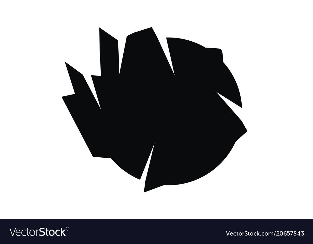Rough ball vector image